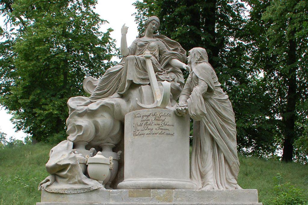 """Schlosspark Hohenzieritz, """"Die Hoffnung tröstet die Trauer"""""""