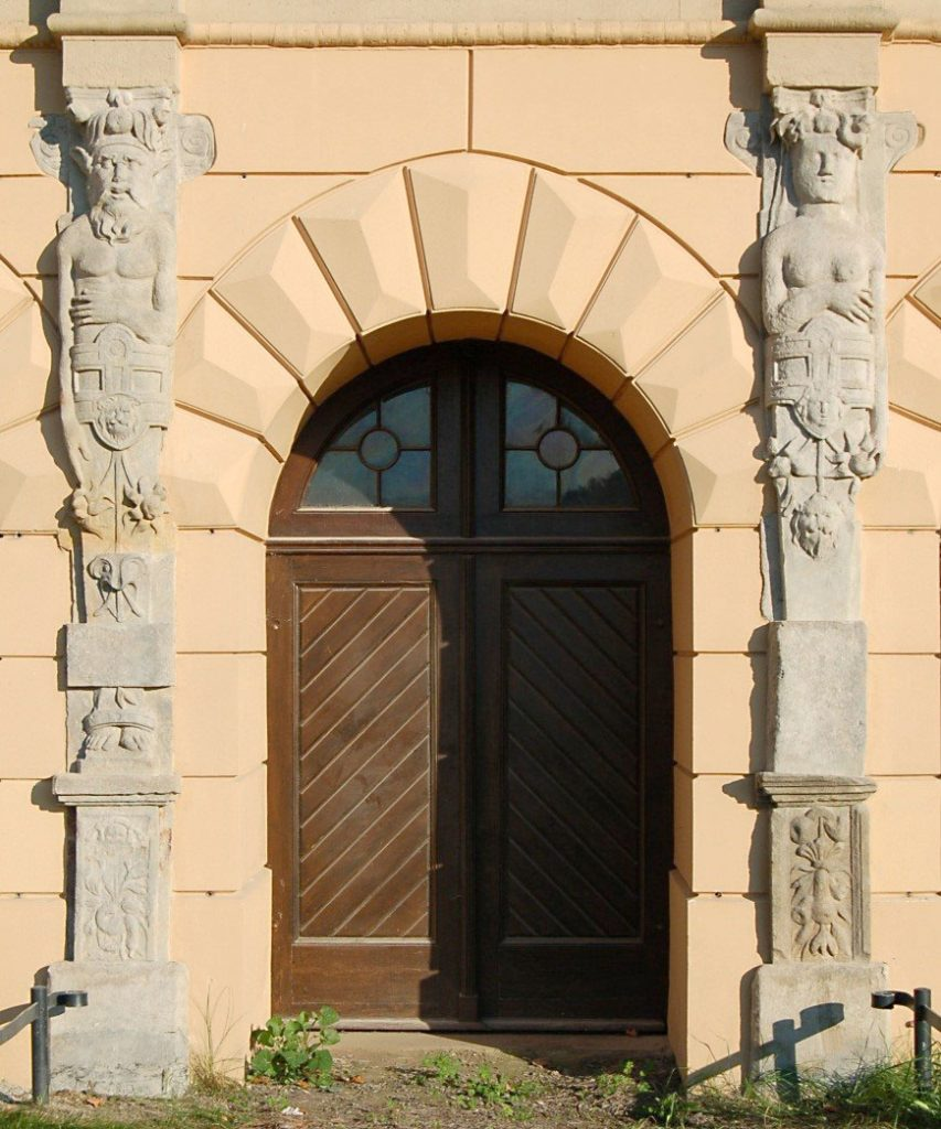 Schloss Schwerin, Renaissance-Hermenpilaster